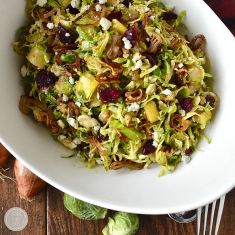 http://iowagirleats.com/Fall Shredded Brussels Sprouts Salad (via iowagirleats.com)2015/10/23/fall-shredded-brussels-sprouts-salad/