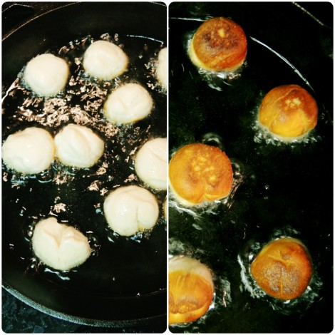 before after maple donut holes